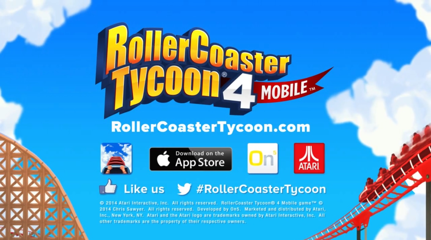 Roller Coaster Tycoon 4 Mobile Gets Upgrades, PC Version