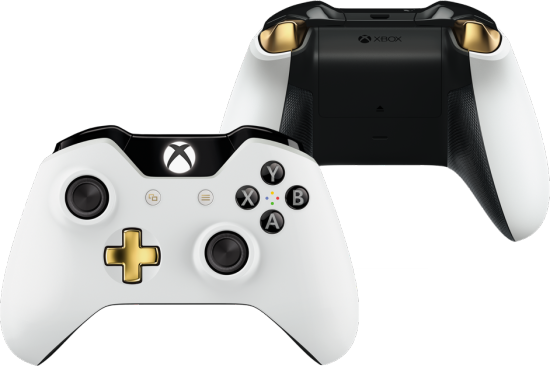 Xbox one elite bundle retailer exclusive controller revealed at the same time major nelson also announced a gamestop exclusive vanilla xbox one controller the faceplate is white battery pack and top are black and ccuart Images